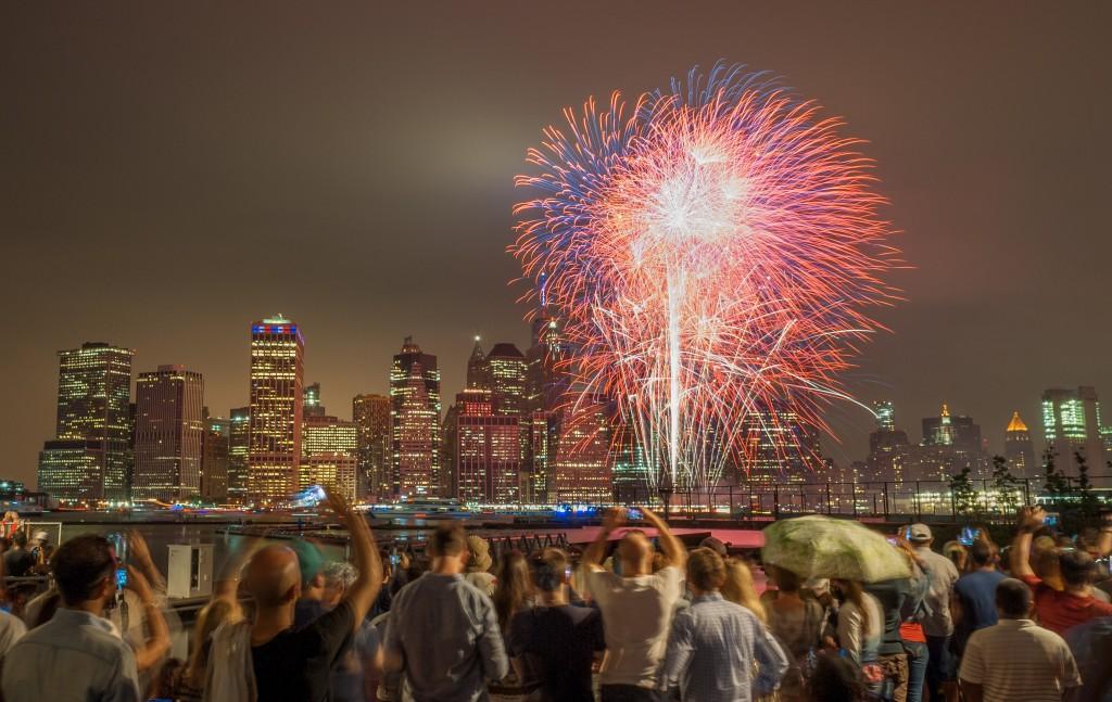 celebrating fireworks