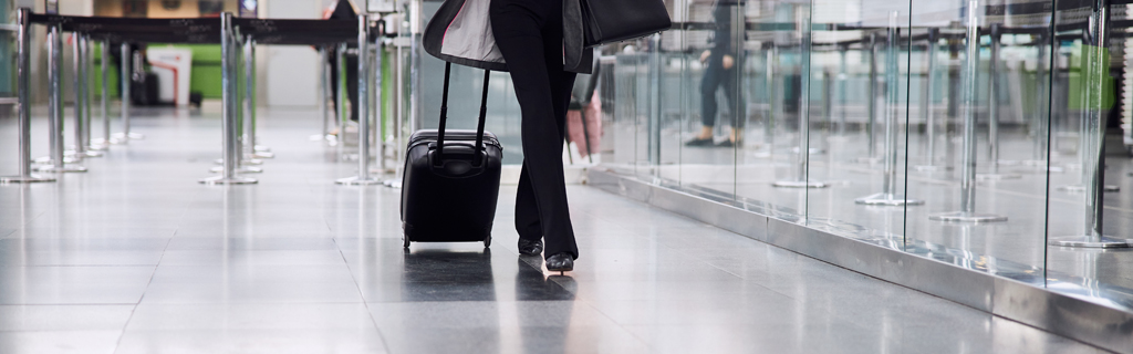 walking in airport